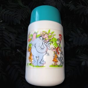 Vintage cat in the hat thermos